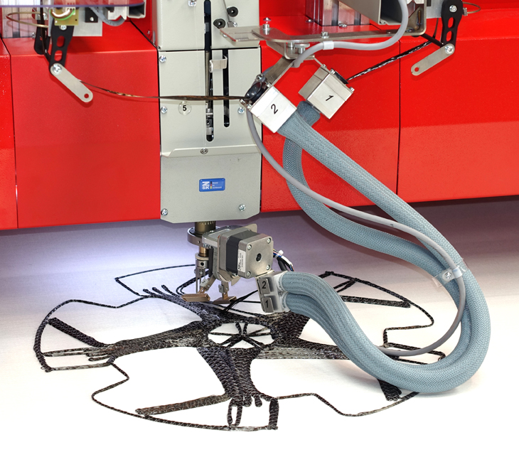 ZSK's W-head offers a laying technology for wires, fibers and tubes