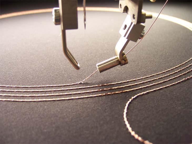 EMBRO verlegt leitfähige Garne und Drähte auf unterschiedlichen Trägermaterialien