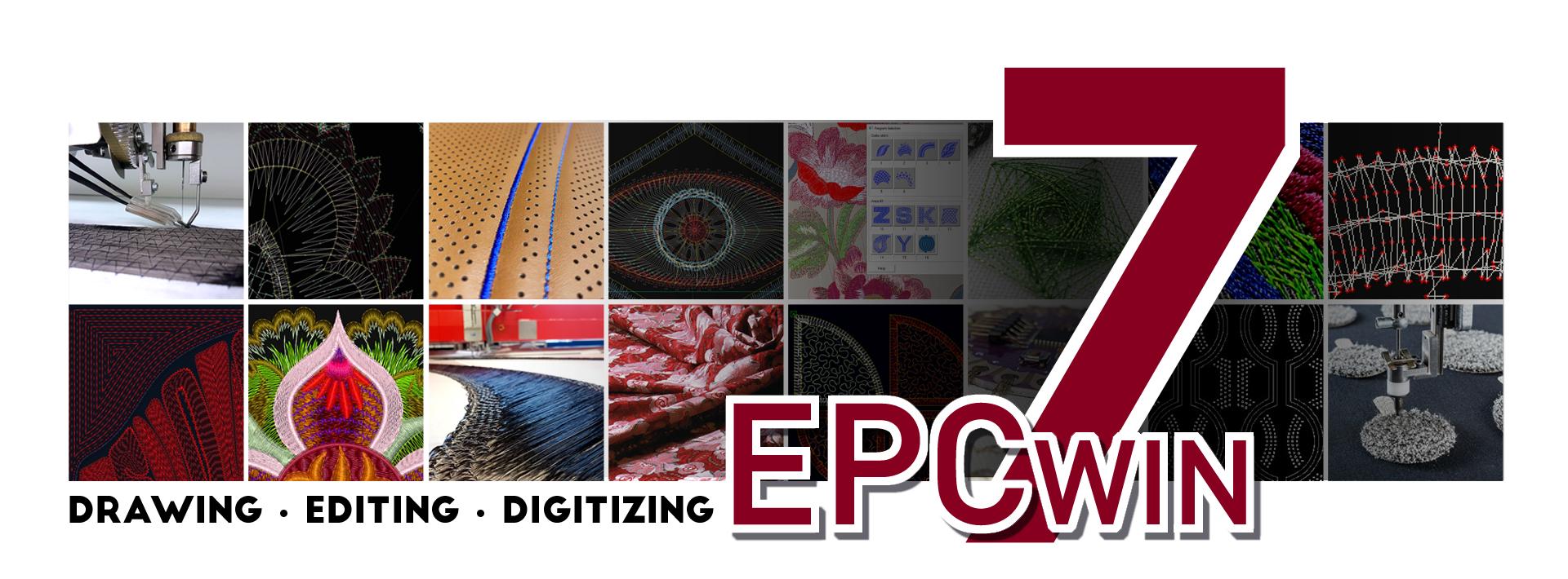 EPCwin 7 - Die neue Version der Software für die professionelle Stickerei und Technischen Sticksysteme