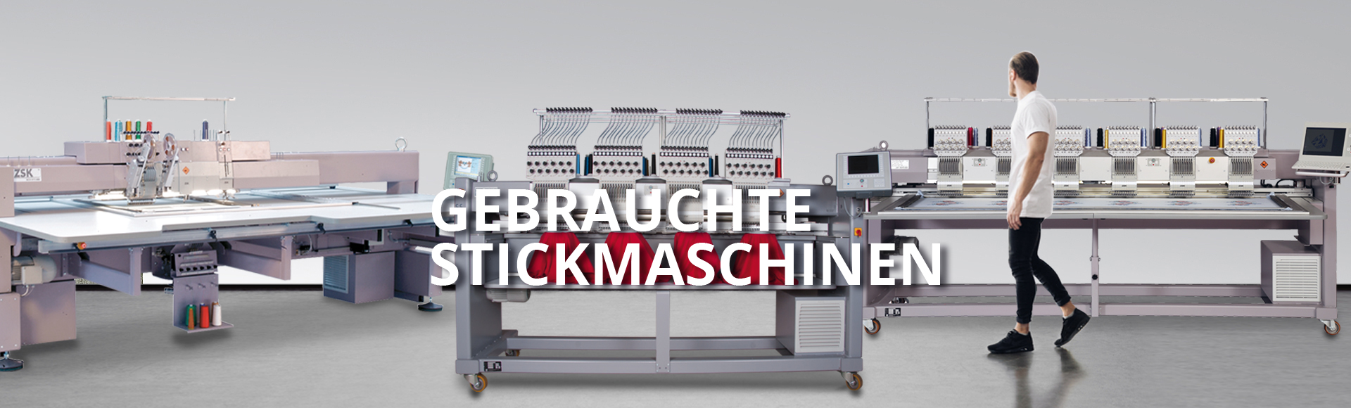 Gebrauchte und geprüfte Stickmaschinen von ZSK STICKMASCHINEN