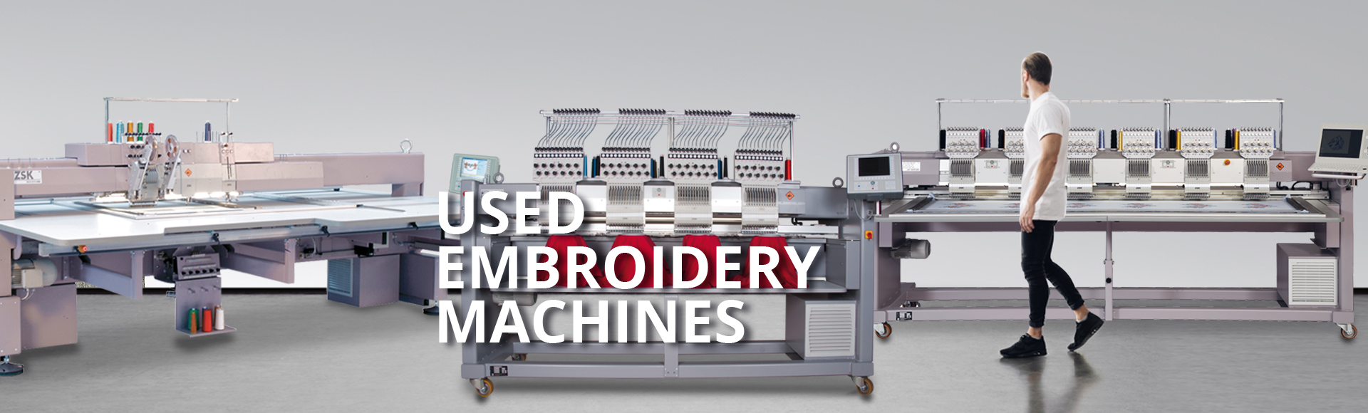 Used and tested embroidery machines from ZSK STICKMASCHINEN