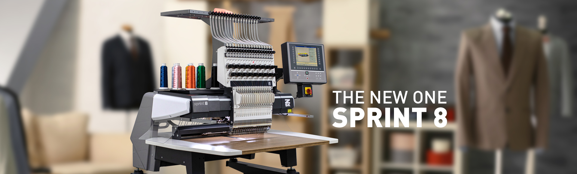 SPRINT 8 - Die neue Einkopf Stickmaschine