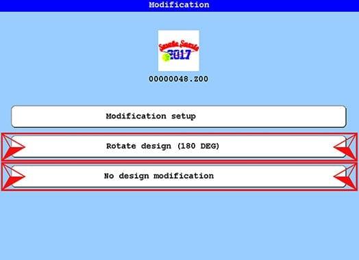 Modifizierungsoptionen für das Design nach dem Laden mit Barcode