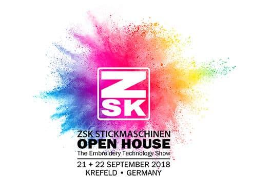 Hausmesse ZSK Stickmaschinen