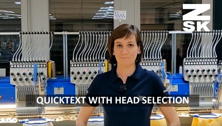 ZSK Stickmaschinen - Quicktext