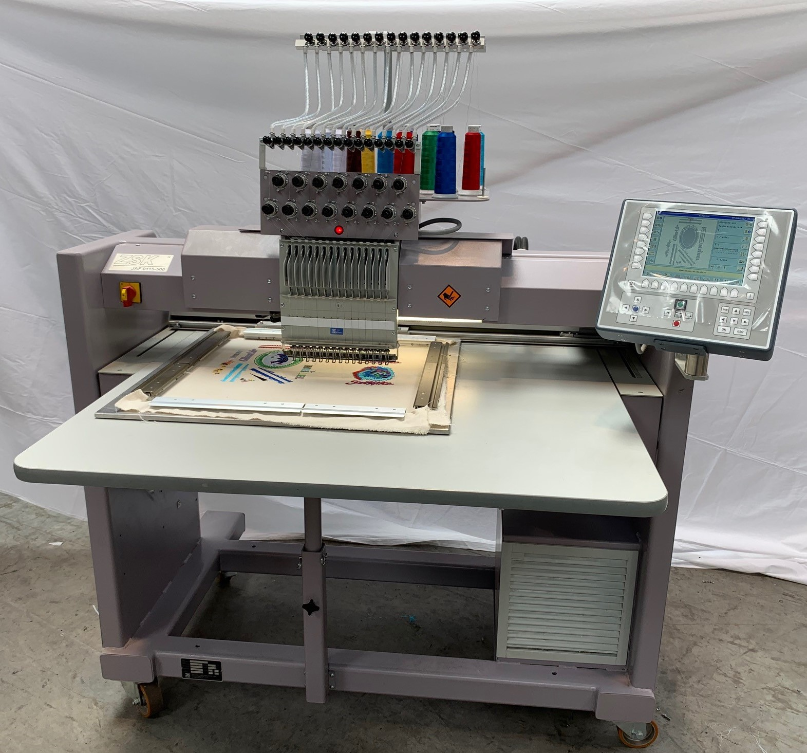 ZSK used embroidery machine JAF 0115-500