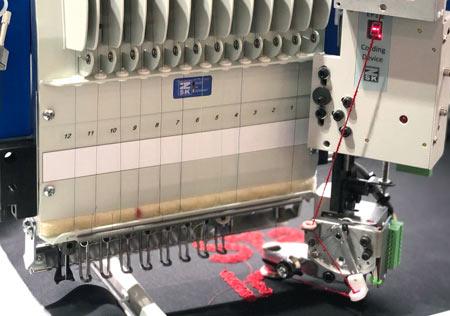 Optionale Erweiterungen für ZSK Stickmaschinen - Kordel Einrichtungen
