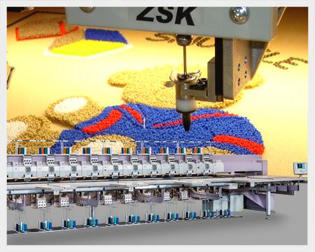 ZSK Stickmaschinen für Chenille