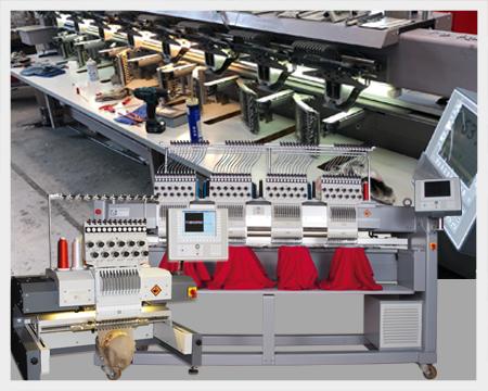 Technische Stickerei Mit viel Know-how und langjähriger Erfahrung im Textilmaschinenbau haben wir die breiten Möglichkeiten unserer Stickmaschinen in industrielle Anwendungen übertragen und technische Sticksysteme entwickelt.