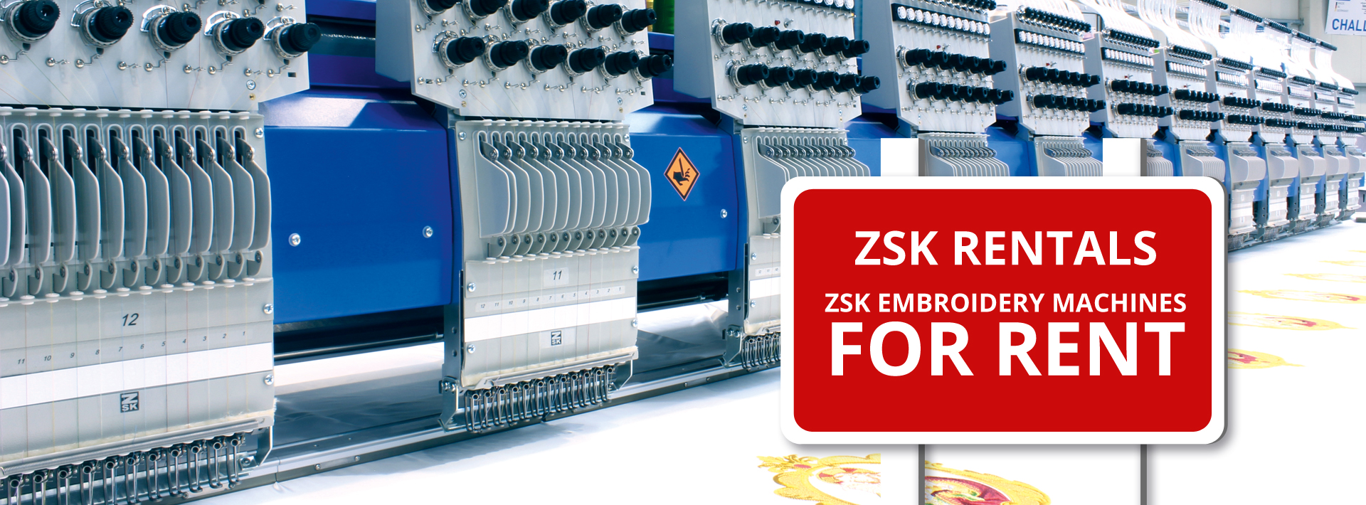 ZSK RENTALS - Rent a ZSK Embroidery Machine
