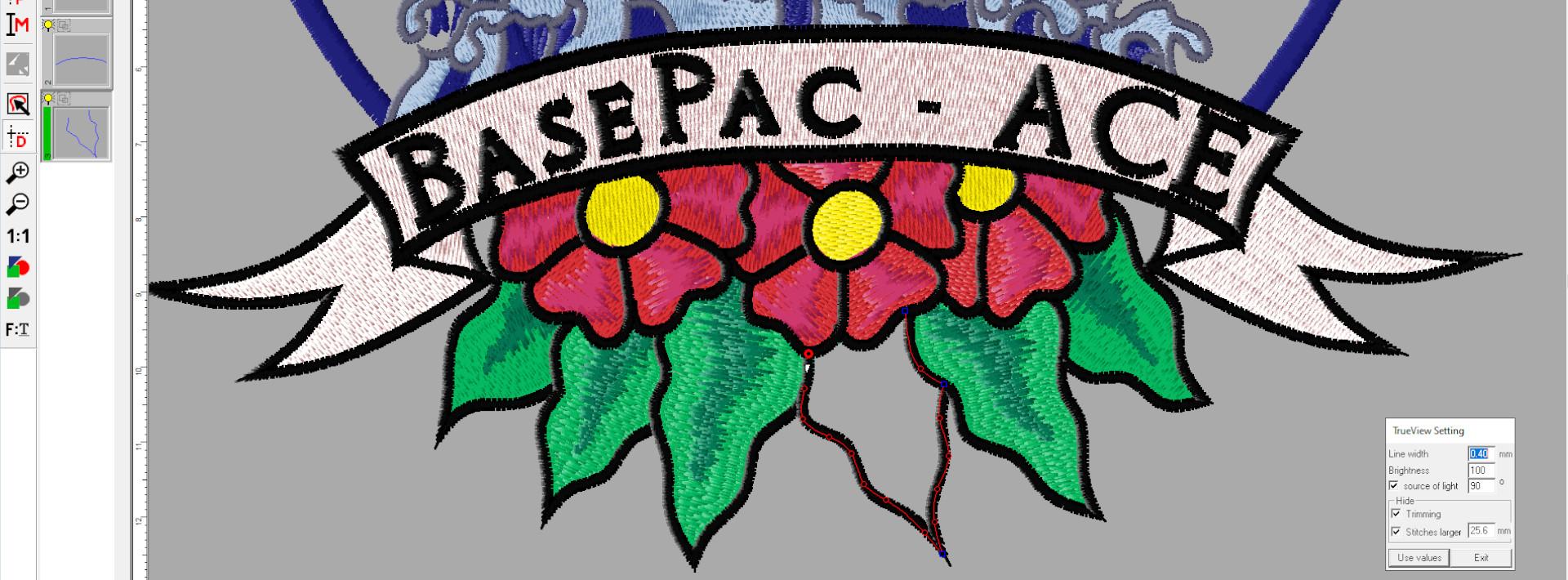 Software BasePac ACE -ZSK Stickmaschinen
