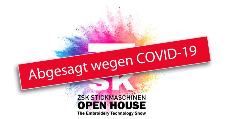 Abgesagt - ZSK STICKMASCHINEN OPEN HOUSE 2020