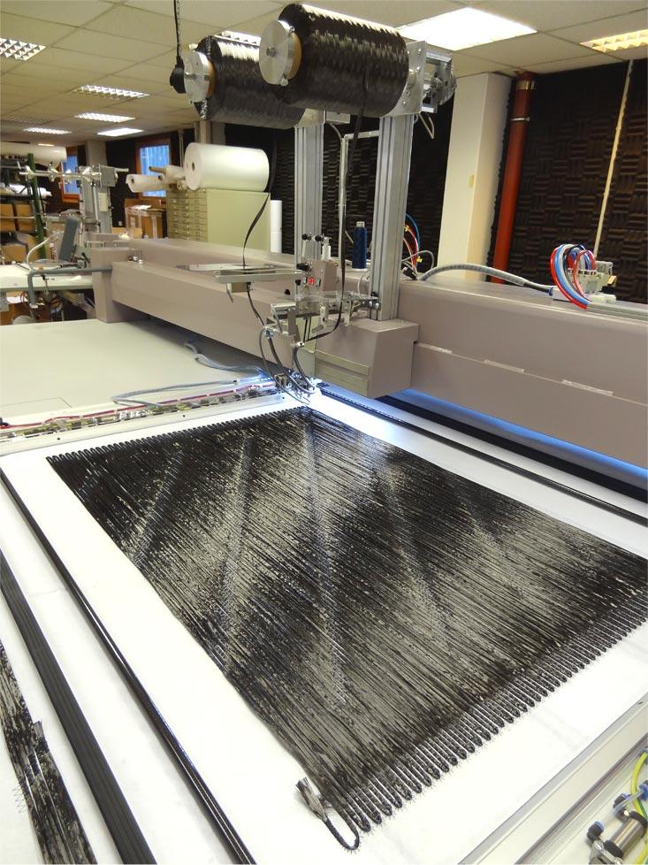 ZSK STICKMASCHINEN - Optionale Maschinenerweiterung schnelle Faserablage