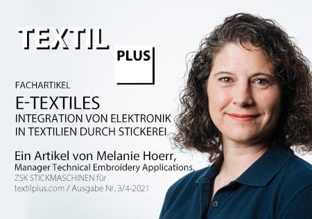 E-TEXTILES – INTEGRATION VON ELEKTRONIK IN TEXTILIEN DURCH STICKEREI