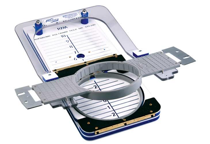 Rahmenaufnahme für Alliedi Kunststoffrahmen für das HoopMaster System